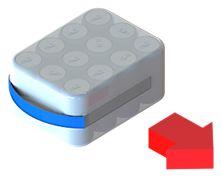 application de poignées adhésives sur pack de cannettes par le coté
