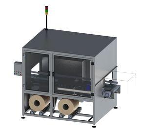 machine d'application de poignées de transport par adhésif par le coté - handlepack L Side