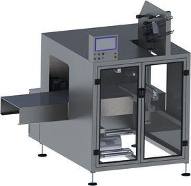 machine d'application de poignées par adhésif à 90° par le coté - HANDLEPACK U Side