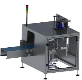 machine d'application de poignées par adhésif à 90° par le dessous - HANDLEPACK U Inverse