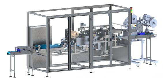 Machine de mise en lots de produits empilés par bandes adhésives - MULTIPACK P 35 L